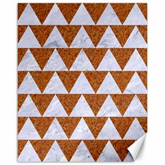 TRIANGLE2 WHITE MARBLE & RUSTED METAL Canvas 16  x 20