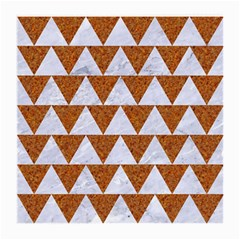 TRIANGLE2 WHITE MARBLE & RUSTED METAL Medium Glasses Cloth (2-Side)