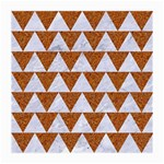 TRIANGLE2 WHITE MARBLE & RUSTED METAL Medium Glasses Cloth (2-Side) Front