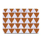TRIANGLE2 WHITE MARBLE & RUSTED METAL Plate Mats 18 x12 Plate Mat - 1
