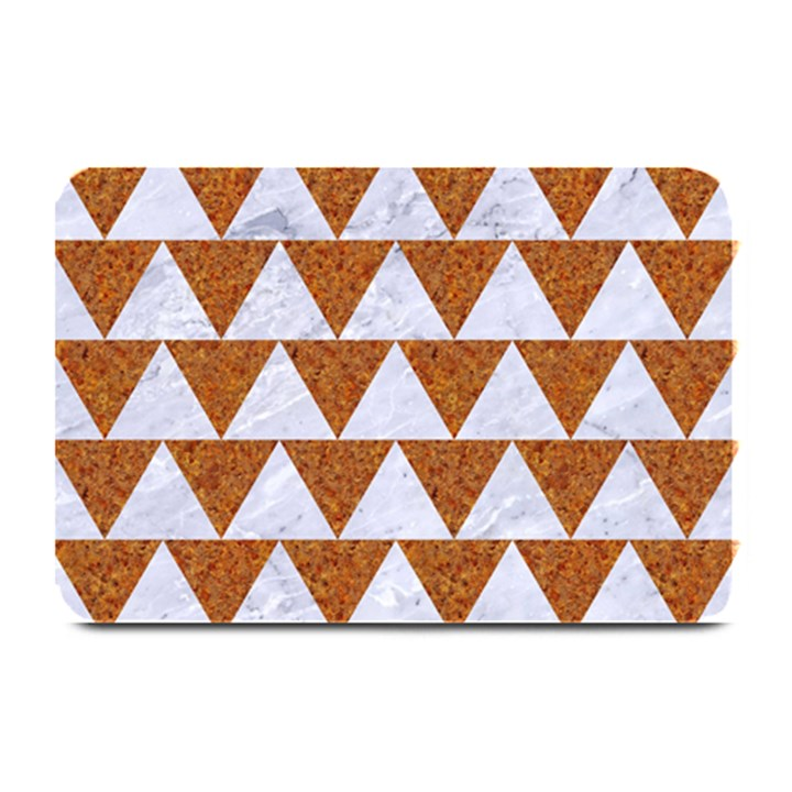 TRIANGLE2 WHITE MARBLE & RUSTED METAL Plate Mats