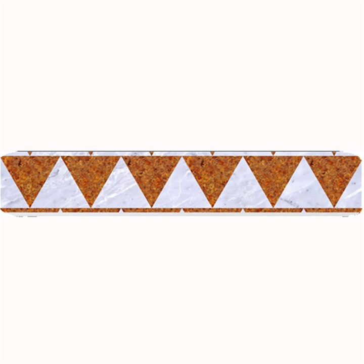 TRIANGLE2 WHITE MARBLE & RUSTED METAL Small Bar Mats