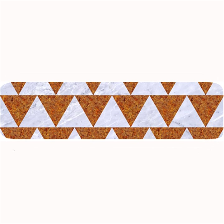TRIANGLE2 WHITE MARBLE & RUSTED METAL Large Bar Mats