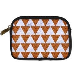 TRIANGLE2 WHITE MARBLE & RUSTED METAL Digital Camera Cases