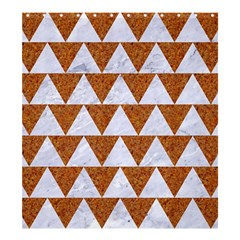 TRIANGLE2 WHITE MARBLE & RUSTED METAL Shower Curtain 66  x 72  (Large)