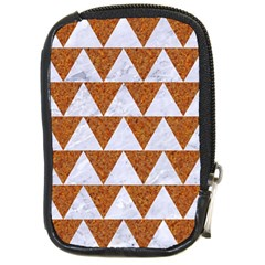 TRIANGLE2 WHITE MARBLE & RUSTED METAL Compact Camera Cases