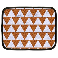 TRIANGLE2 WHITE MARBLE & RUSTED METAL Netbook Case (XL)