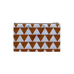 TRIANGLE2 WHITE MARBLE & RUSTED METAL Cosmetic Bag (Small)  Back