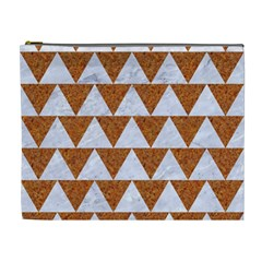 TRIANGLE2 WHITE MARBLE & RUSTED METAL Cosmetic Bag (XL)