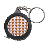 TRIANGLE2 WHITE MARBLE & RUSTED METAL Measuring Tape Front