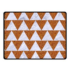 Triangle2 White Marble & Rusted Metal Fleece Blanket (small) by trendistuff