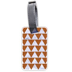 TRIANGLE2 WHITE MARBLE & RUSTED METAL Luggage Tags (One Side)
