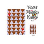 TRIANGLE2 WHITE MARBLE & RUSTED METAL Playing Cards 54 (Mini)  Front - Heart2