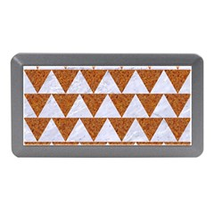 TRIANGLE2 WHITE MARBLE & RUSTED METAL Memory Card Reader (Mini)