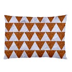 TRIANGLE2 WHITE MARBLE & RUSTED METAL Pillow Case (Two Sides) Back