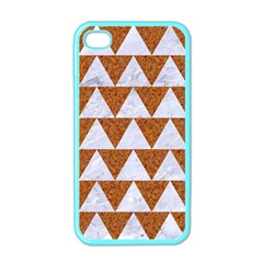 TRIANGLE2 WHITE MARBLE & RUSTED METAL Apple iPhone 4 Case (Color)