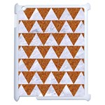 TRIANGLE2 WHITE MARBLE & RUSTED METAL Apple iPad 2 Case (White) Front