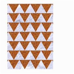 TRIANGLE2 WHITE MARBLE & RUSTED METAL Large Garden Flag (Two Sides)