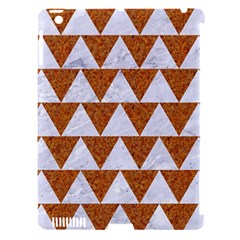 TRIANGLE2 WHITE MARBLE & RUSTED METAL Apple iPad 3/4 Hardshell Case (Compatible with Smart Cover)