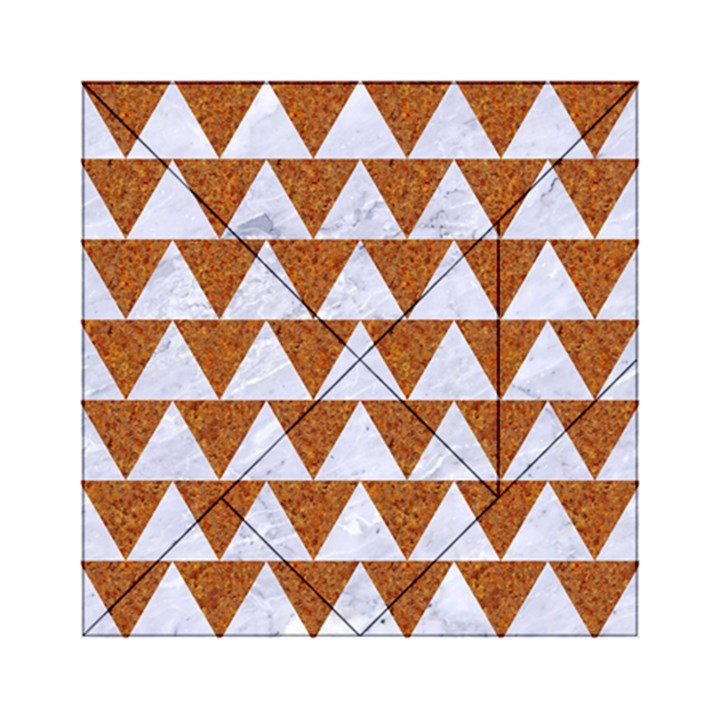 TRIANGLE2 WHITE MARBLE & RUSTED METAL Acrylic Tangram Puzzle (6  x 6 )