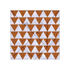 TRIANGLE2 WHITE MARBLE & RUSTED METAL Acrylic Tangram Puzzle (4  x 4 )