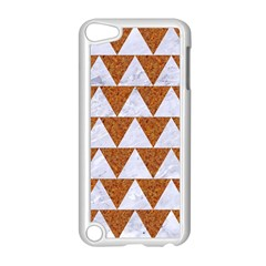 TRIANGLE2 WHITE MARBLE & RUSTED METAL Apple iPod Touch 5 Case (White)