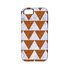 TRIANGLE2 WHITE MARBLE & RUSTED METAL Apple iPhone 5 Classic Hardshell Case (PC+Silicone)