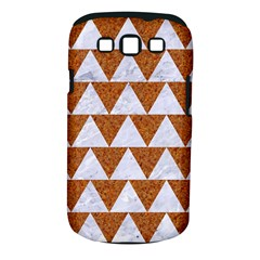 TRIANGLE2 WHITE MARBLE & RUSTED METAL Samsung Galaxy S III Classic Hardshell Case (PC+Silicone)