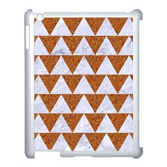 TRIANGLE2 WHITE MARBLE & RUSTED METAL Apple iPad 3/4 Case (White)