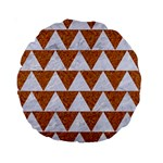 TRIANGLE2 WHITE MARBLE & RUSTED METAL Standard 15  Premium Round Cushions Front