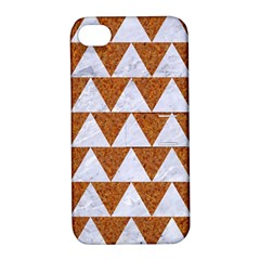 TRIANGLE2 WHITE MARBLE & RUSTED METAL Apple iPhone 4/4S Hardshell Case with Stand