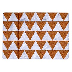 TRIANGLE2 WHITE MARBLE & RUSTED METAL Samsung Galaxy Tab 10.1  P7500 Flip Case