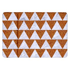 TRIANGLE2 WHITE MARBLE & RUSTED METAL Samsung Galaxy Tab 8.9  P7300 Flip Case