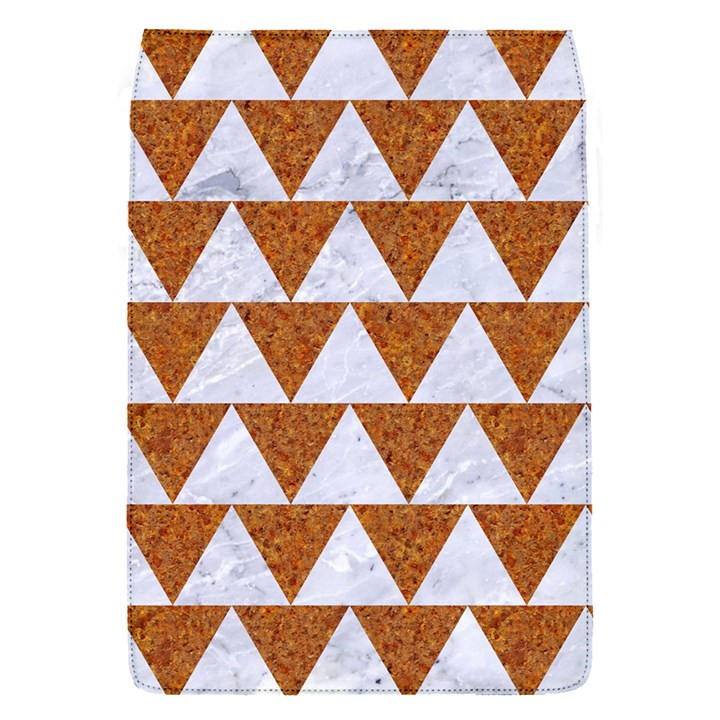 TRIANGLE2 WHITE MARBLE & RUSTED METAL Flap Covers (S)