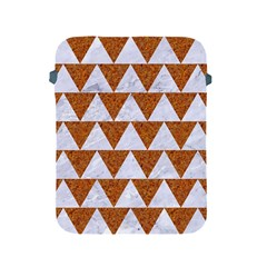 TRIANGLE2 WHITE MARBLE & RUSTED METAL Apple iPad 2/3/4 Protective Soft Cases