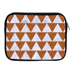 TRIANGLE2 WHITE MARBLE & RUSTED METAL Apple iPad 2/3/4 Zipper Cases