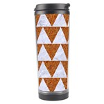 TRIANGLE2 WHITE MARBLE & RUSTED METAL Travel Tumbler Right