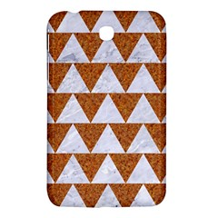 Triangle2 White Marble & Rusted Metal Samsung Galaxy Tab 3 (7 ) P3200 Hardshell Case  by trendistuff