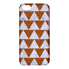 TRIANGLE2 WHITE MARBLE & RUSTED METAL Apple iPhone 5C Hardshell Case