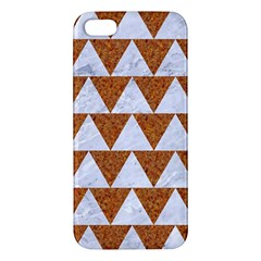 TRIANGLE2 WHITE MARBLE & RUSTED METAL iPhone 5S/ SE Premium Hardshell Case