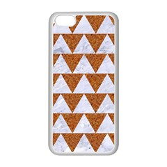 TRIANGLE2 WHITE MARBLE & RUSTED METAL Apple iPhone 5C Seamless Case (White)