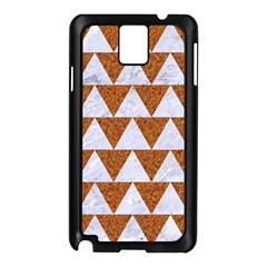 Triangle2 White Marble & Rusted Metal Samsung Galaxy Note 3 N9005 Case (black) by trendistuff