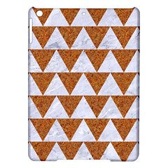 Triangle2 White Marble & Rusted Metal Ipad Air Hardshell Cases