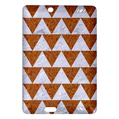 TRIANGLE2 WHITE MARBLE & RUSTED METAL Amazon Kindle Fire HD (2013) Hardshell Case