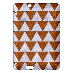 TRIANGLE2 WHITE MARBLE & RUSTED METAL Kindle Fire HDX Hardshell Case