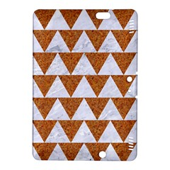 TRIANGLE2 WHITE MARBLE & RUSTED METAL Kindle Fire HDX 8.9  Hardshell Case