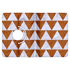 TRIANGLE2 WHITE MARBLE & RUSTED METAL Kindle Fire HDX Flip 360 Case