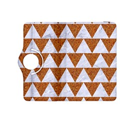 TRIANGLE2 WHITE MARBLE & RUSTED METAL Kindle Fire HDX 8.9  Flip 360 Case
