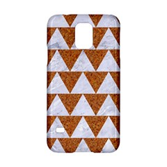 TRIANGLE2 WHITE MARBLE & RUSTED METAL Samsung Galaxy S5 Hardshell Case