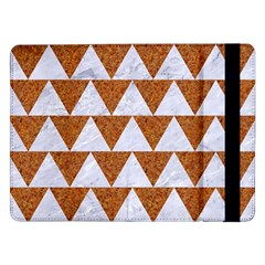 TRIANGLE2 WHITE MARBLE & RUSTED METAL Samsung Galaxy Tab Pro 12.2  Flip Case